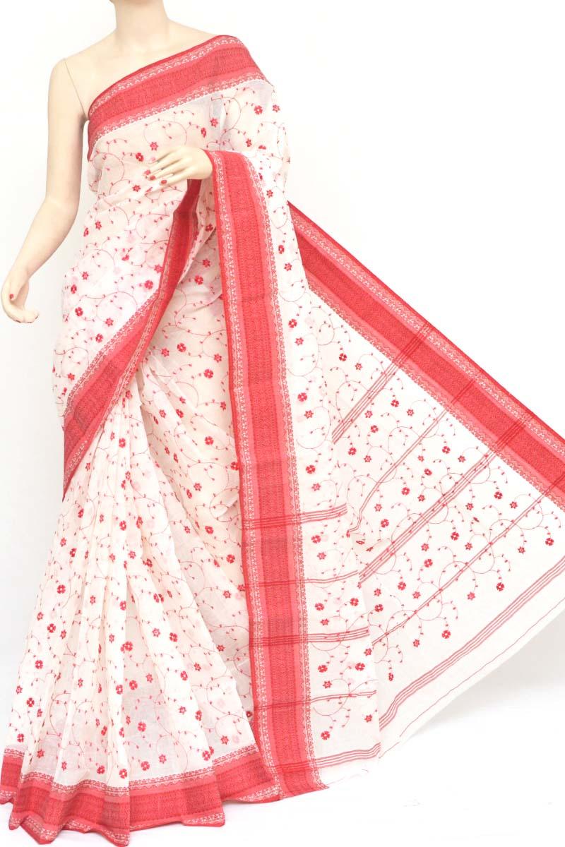 Bengal Cotton Saree Saree With Blouse ds creation Multicolour Handloom Woven Saree