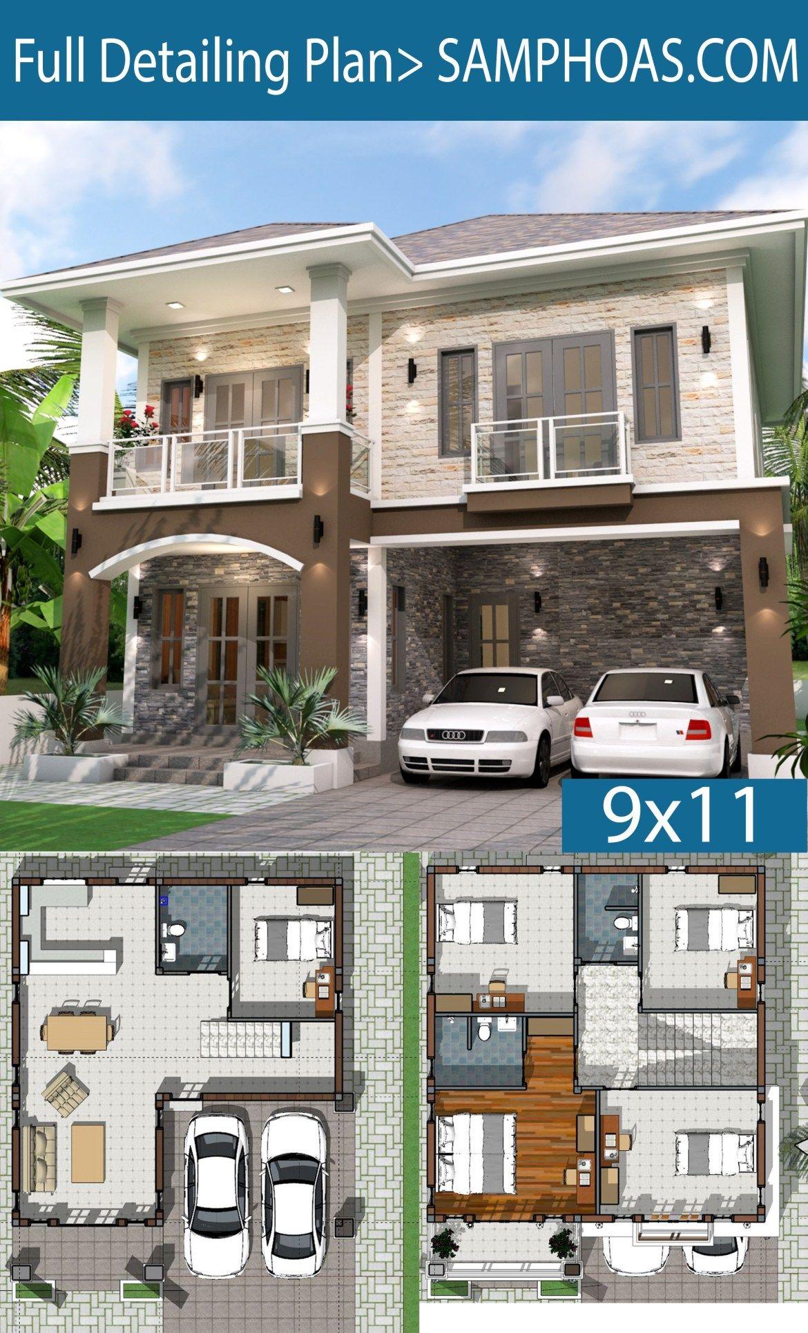 Home Plan 9x11 Meter 5 Bedrooms