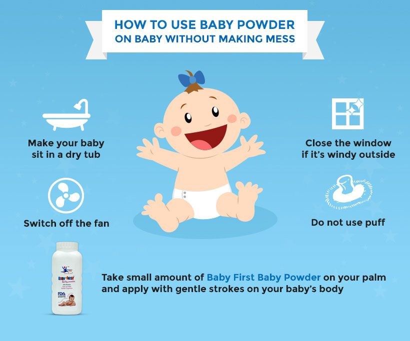 Few Tips For You To Apply Baby Powder On Your Baby Without Making