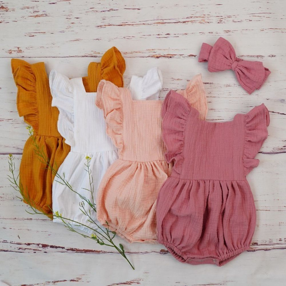 , Baby Girl Clothes Ruffle Romper Headband For 3M, My Babies Blog 2020, My Babies Blog 2020