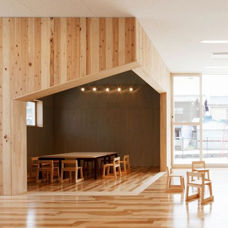 Built By Archivision Hirotani Studio In Nagahama, Japan With Date Images By  Kurumata Tamotsu. This Nursery School For Children, From Years Zero To Five  ...