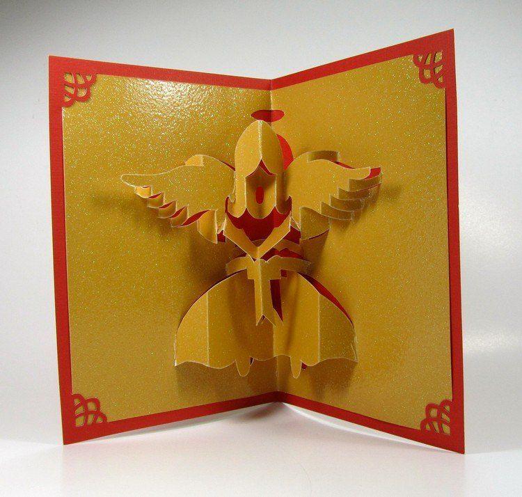 Comment créer une carte vœux avec un ange de Noël en quelques idées ravissantes   Anges de noël ...