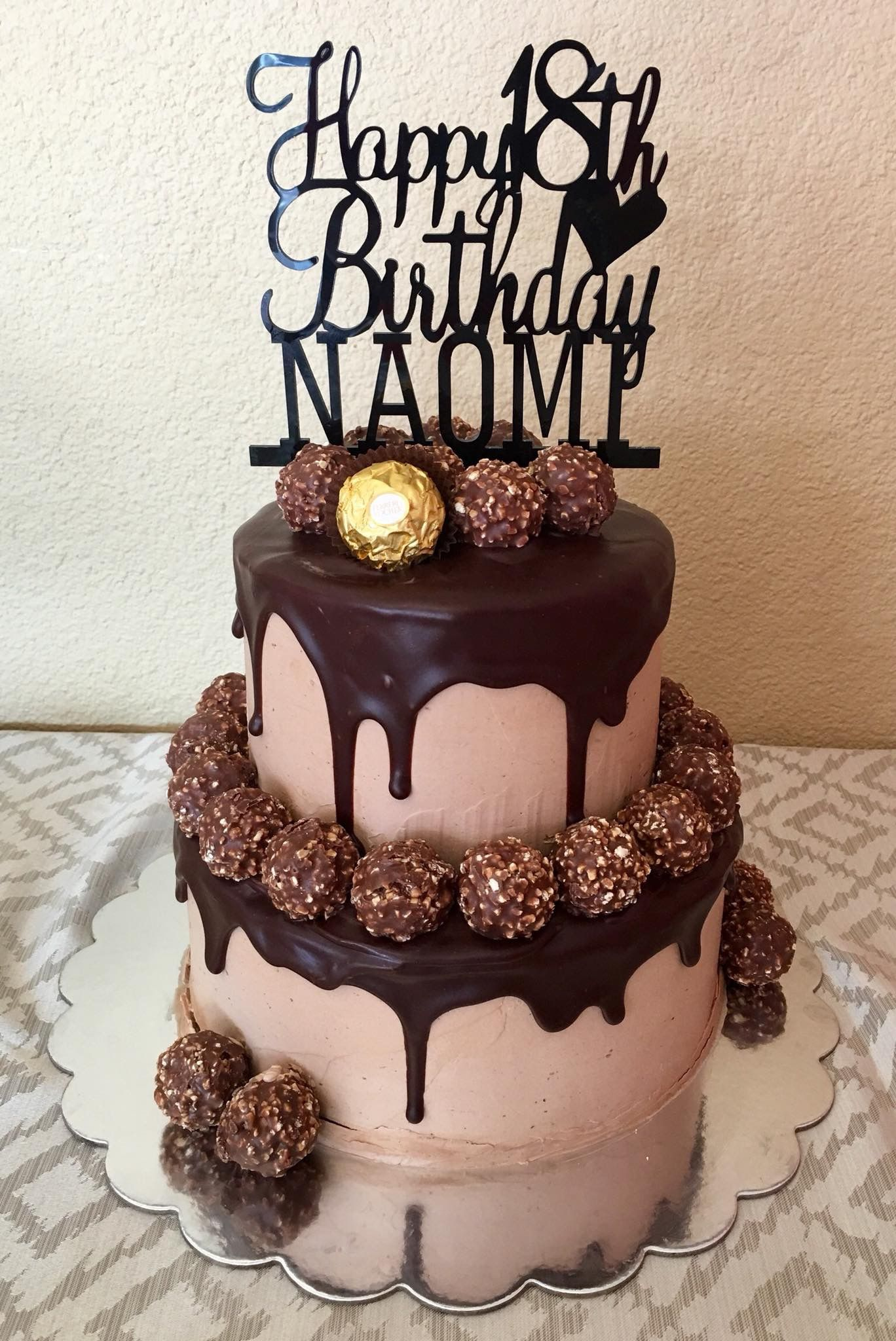 Ferrero Rocher 18th Birthday Cake With Images Cake 18th