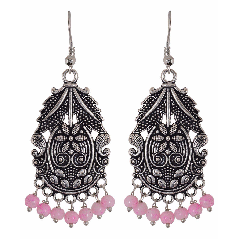 SALE Black Tibetan Gypsy Dangle earrings