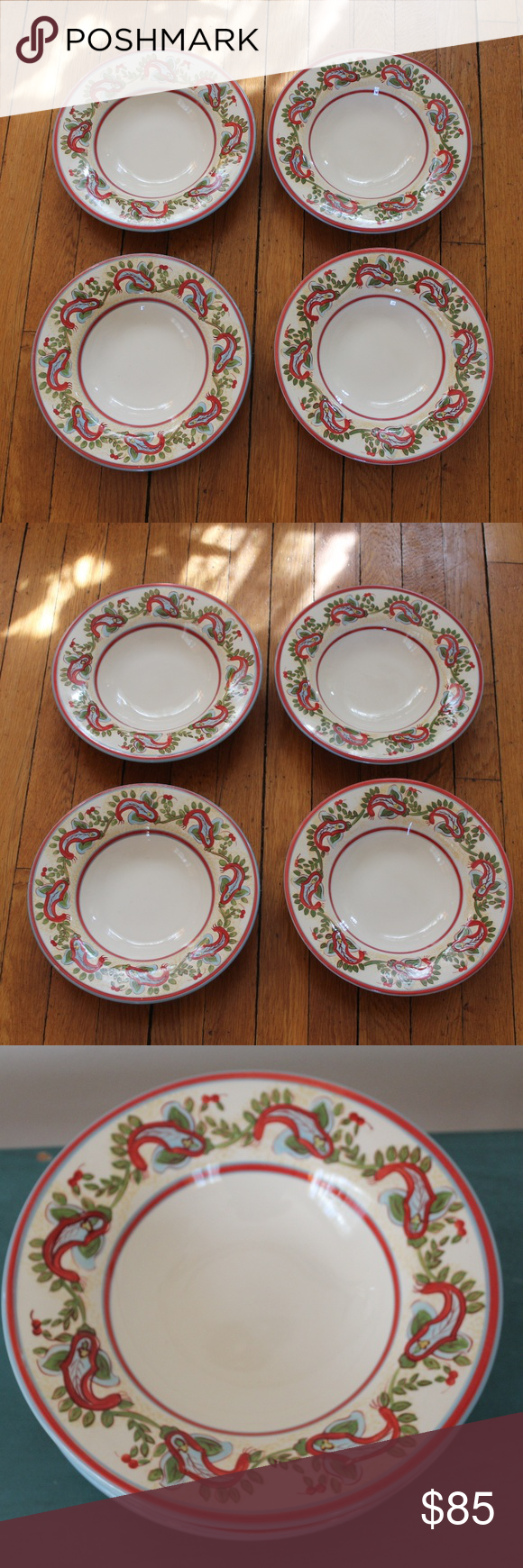 Set Of 4 Soup Pasta Bowls By Pottery Barn Pottery Barn
