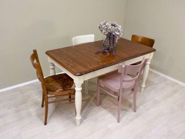frisch aus der retrosalon werkstatt tisch mit gedrechselten beinen und ausziehfunktion bzw. Black Bedroom Furniture Sets. Home Design Ideas
