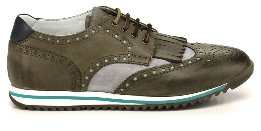 Shoes Sneaker BARRACUDA CAFFE`\GRIGIO Men 2296 - Le Follie Shop