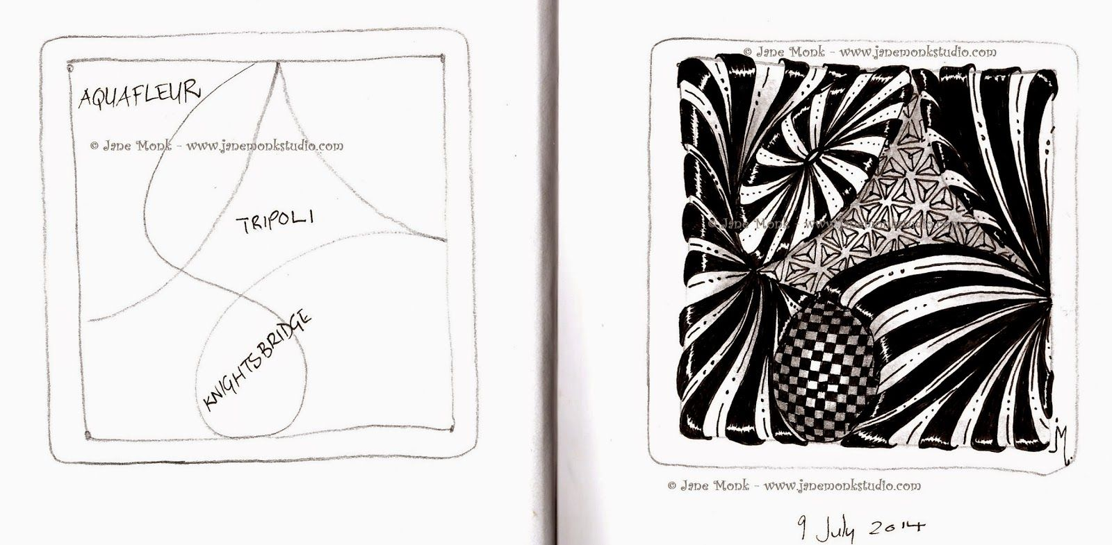 One Tangle : Day Three Hundred and Sixty Five | 2 ZENTANGLE STRINGS ...