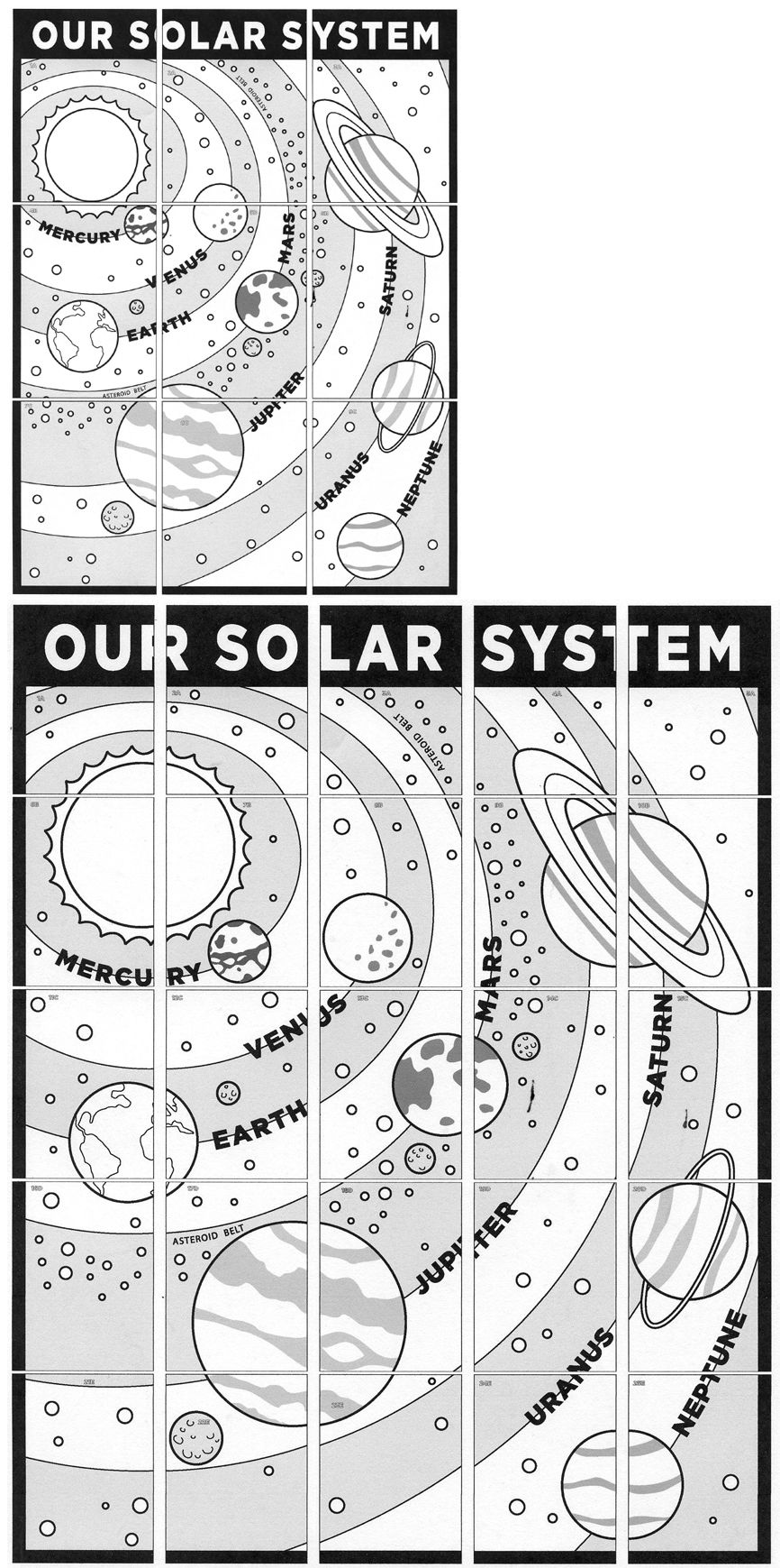 Solar System Mural Art Projects For Kids Art Wall Kids Art Pictures Ideas Solar System Coloring Pages