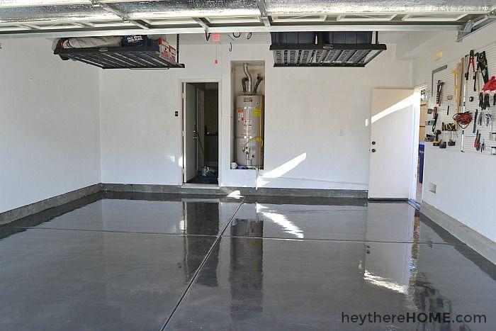 How To Paint Your Garage Floor Workshop Garage Makeover