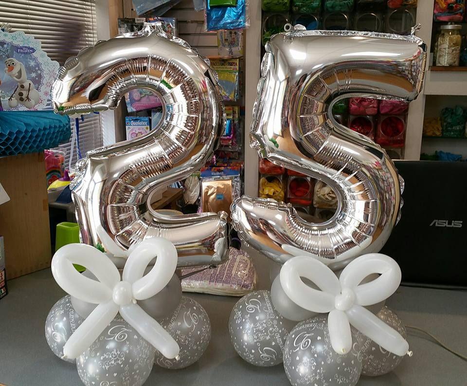 Centrotavola Numero 25 Per Nozze D Argento Feste Di Anniversario 25 Anniversario Di Matrimonio Anniversario Di Matrimonio