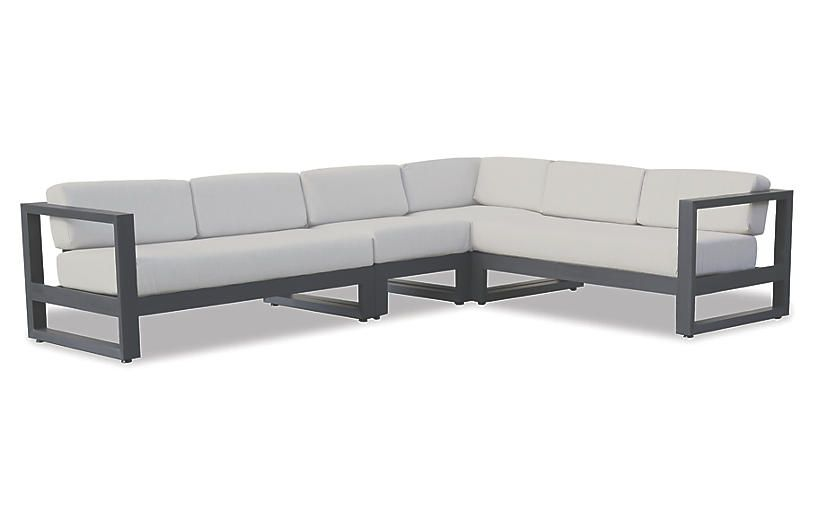 One Kings Lane Redondo Sectional Gray Products