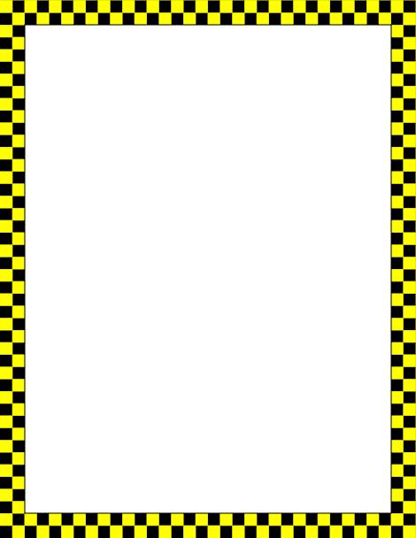 printable yellow and black checkered border free gif jpg pdf and rh pinterest com black checkered border clip art blue checkered border clip art