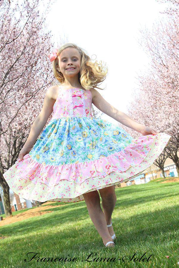 Custom Easter birthday flower apron twirl dress - Lilly - French ...