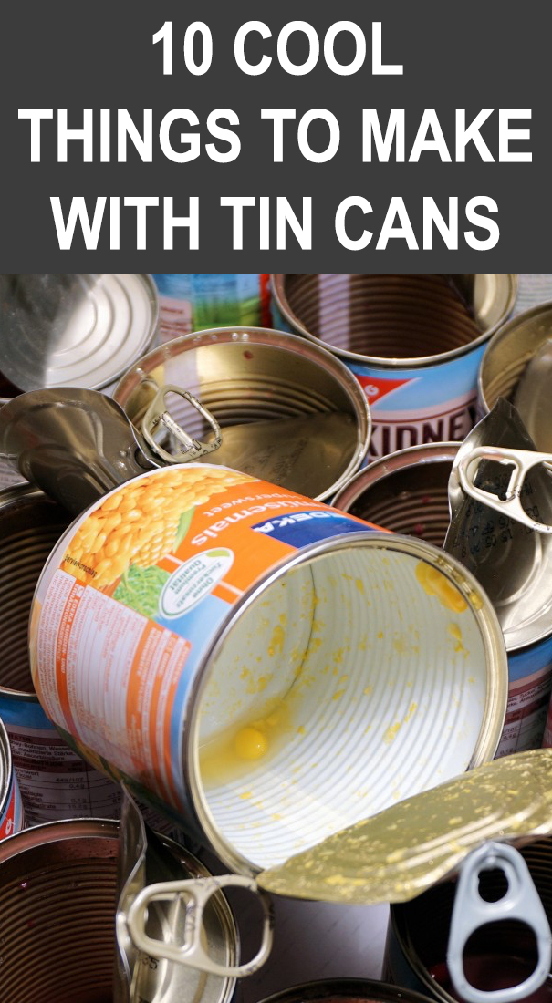 10 Cool Things To Make With Tin Cans Tincans Don T Throw Your Tin Cans Away Here Are 10 Clever Ways To Turn Them Into In 2020 Tin Can Tin Can Art