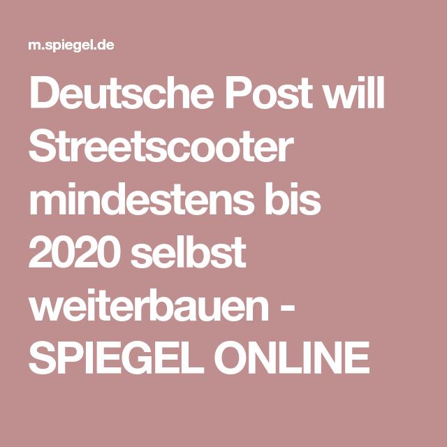 Deutsche Post will Streetscooter mindestens bis 2020