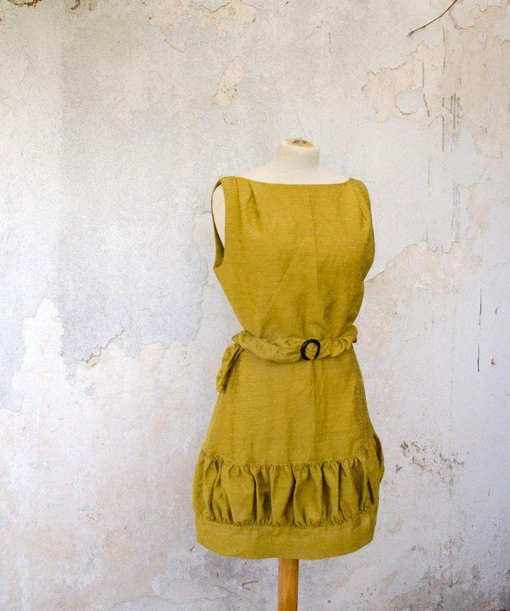 Mustard Yellow Vintage Inspired Dress - Bridesmaid