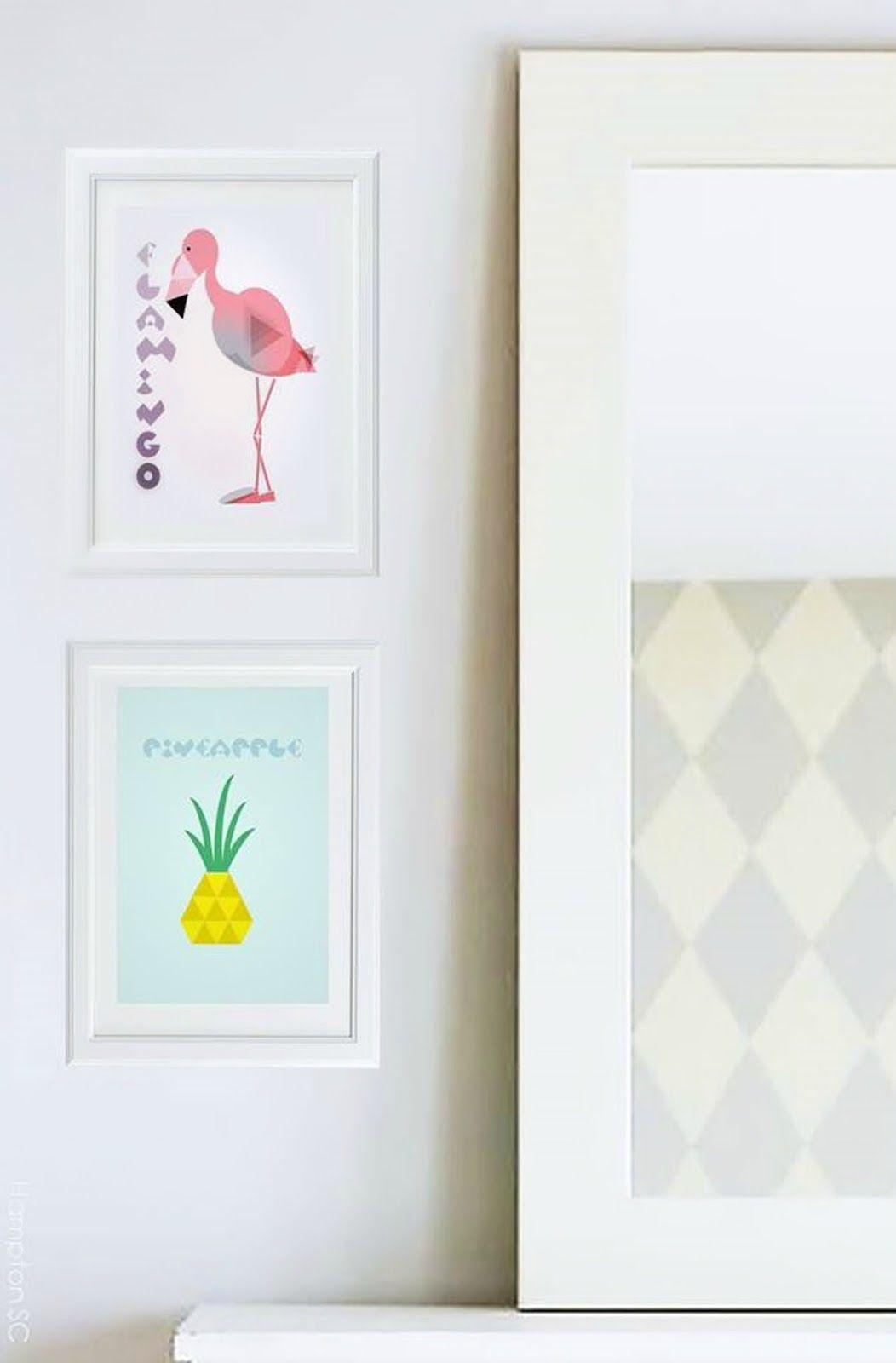 Láminas imprimibles descargables de estilo tropical