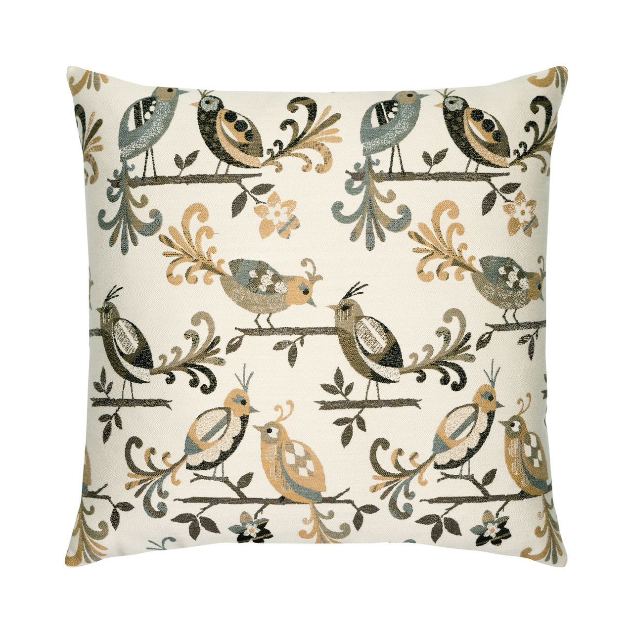 "Lovebirds Dune 22"" Pillow 