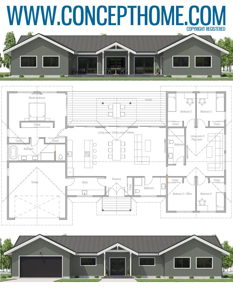 House Plan Ch596 House Construction Plan New House Plans Home Design Floor Plans