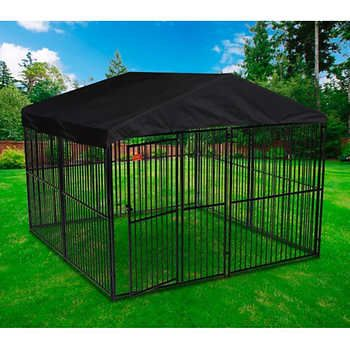 Lucky Dog European Style Kennel With Cover And Frame Cheap Dog Kennels Kennel Ideas Outdoor Dog Houses