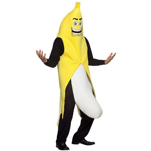 Banana Flasher Costume - One Size - Chest Size 42-48 Funny - ridiculous halloween costume ideas