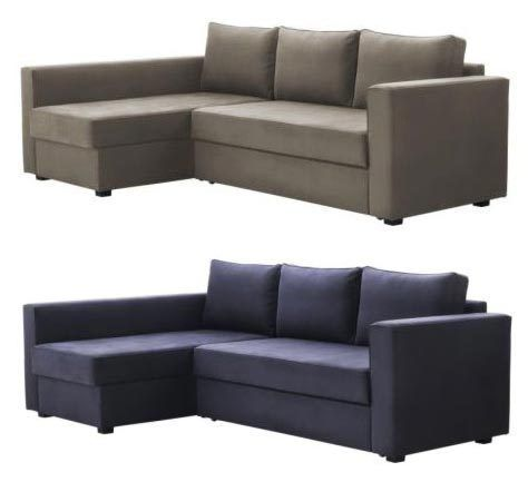 Manstad Sectional Sofa Bed Storage From Ikea Slept On One Is Comfortable Enough Be Great Guest May Want A Pillow Topper To Soften Bit For
