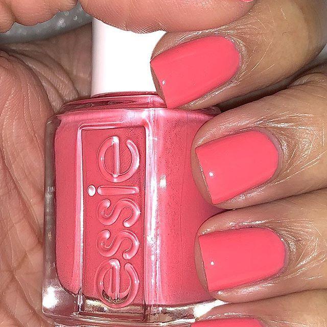 Tonight\'s mani is a bright coral! #Essie #cuteasabutton #nails ...