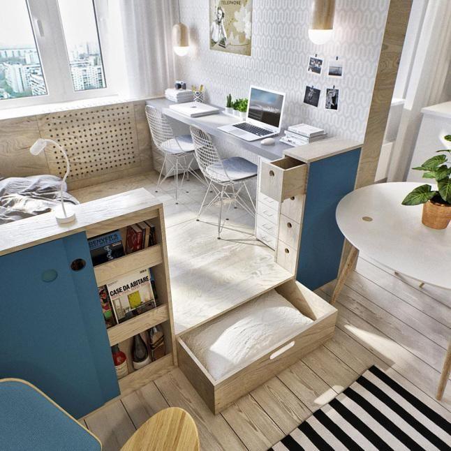 Decora un MiniApartamento de 40m2. | Decorar tu casa es facilisimo.com