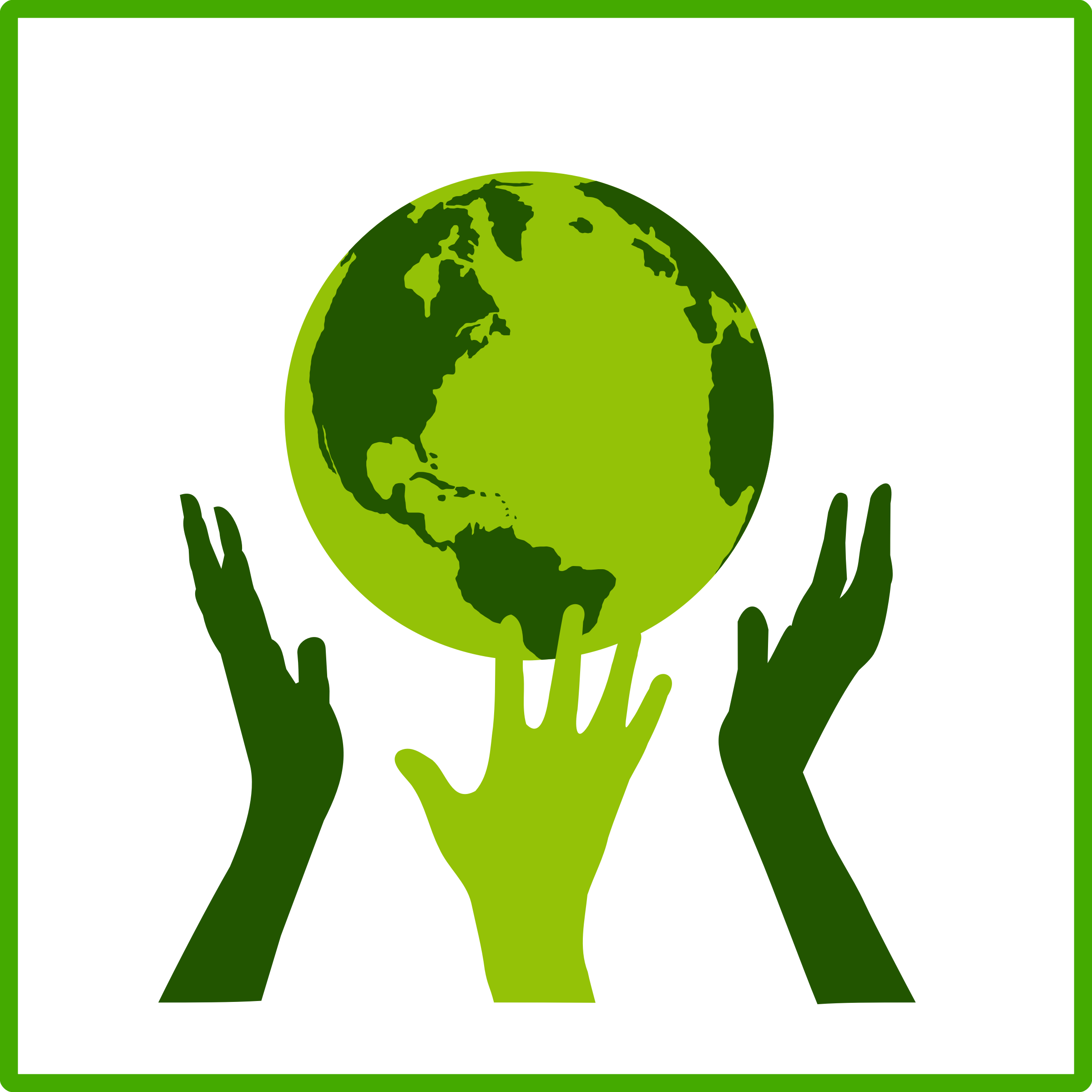 eco green solidarity icon by dominiquechappard, An eco