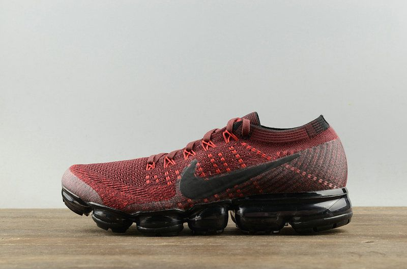 85c4ef68bd9db1 Young Big Boys Nike Air Vapormax Flyknit Dark Team Red university Red 2018 Running  Shoes Sneakers 849558 601