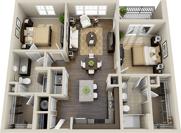 3d floor plan apartment Google Search House plans