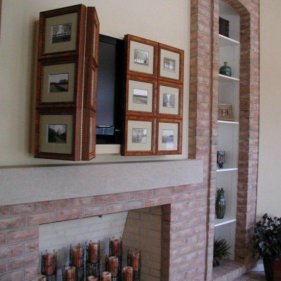 cacher sa t l avec une porte coulissante 48 id es int ressantes home decor pinterest. Black Bedroom Furniture Sets. Home Design Ideas