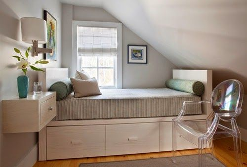 Ideas para dormitorios peque os toma nota bedroom small bedrooms and small spaces - Ideas dormitorios pequenos ...