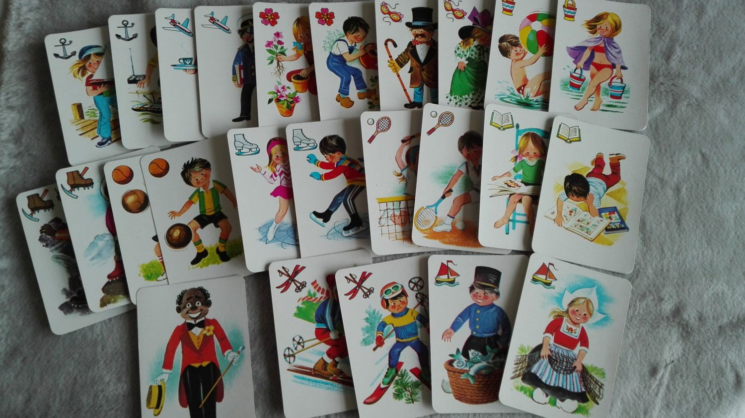 Hobby Childrens Black peter,  playing cards game, kids cards , Craft Supplies Scrapbooking by MetalmanEd on Etsy