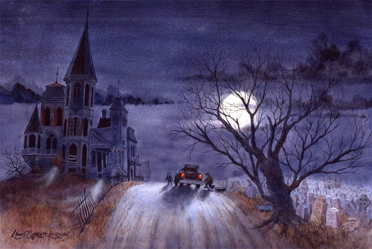 """""""Encounter on Cemetery Hill""""  http://www.hauntedstudio.com/Invisible.htm"""