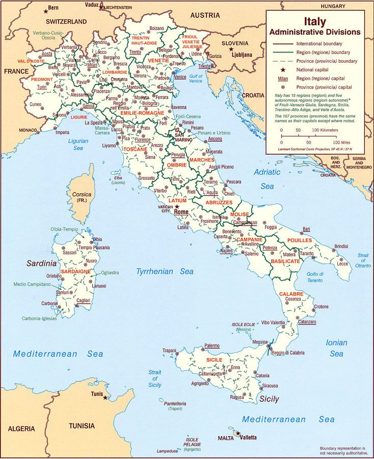 Plan D Italie Mappe Italia Pinterest - Italy map with cities