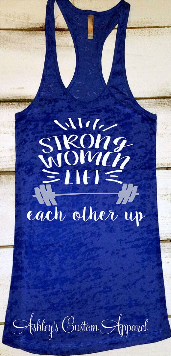 Womens fitness tank top strong women inspirational for Best work out shirts