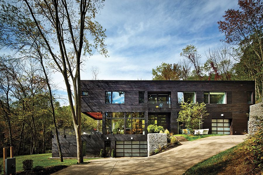 15 modern rustic homes with black exteriors - Modern Home Exterior Siding