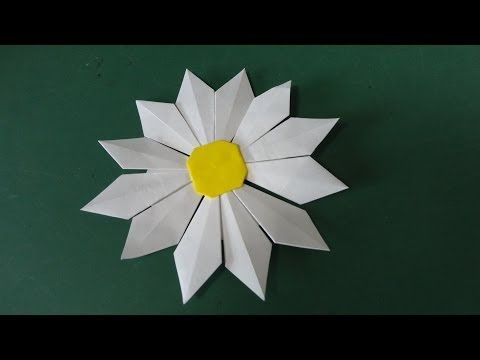 """かわいい「マーガレット」折り紙 Lovely """"marguerite"""" origami"""