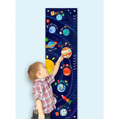 Features:  -Designer: Jill McDonald.  -Made in the USA.  Product Type: -Canvas art.  Theme: -Outer space or planets.  Color: -Multi-colored.  Gender: -Boy.  Life Stage: -Kid.  Primary Material: -Fabri