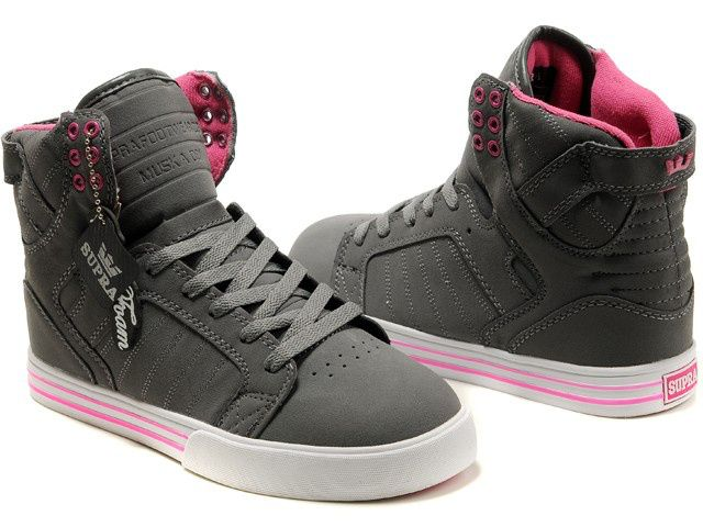 4828ac5c664 Supra-Skytop-Grey-Pink-Women-Shoes-Online-Sale | Products I love ...