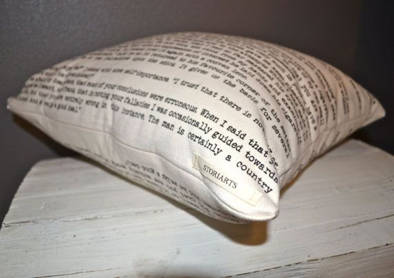 Sherlock Holmes Pillow Cover – Arthur Conan Doyle, Throw Pillow, Book Pillow, Literary Pillow, Book Nook, Book Lover, Books, Reading
