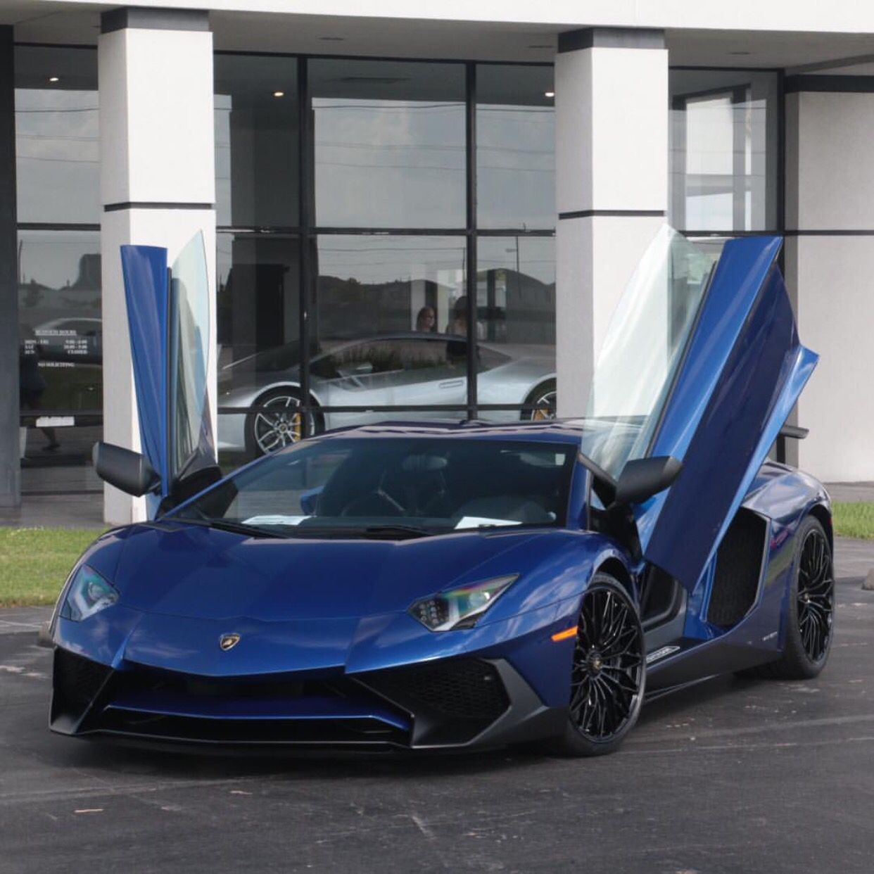 Lamborghini Aventador Super Veloce Painted In Blu Sideris