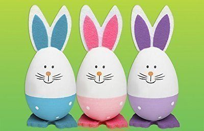 Easter decoration,set of 3 eggs hat.