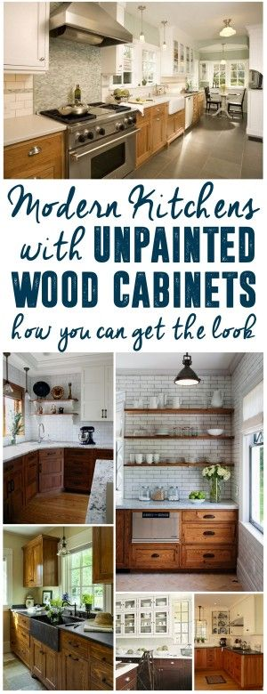 Nice Modern Kitchens With Unpainted Cabinets
