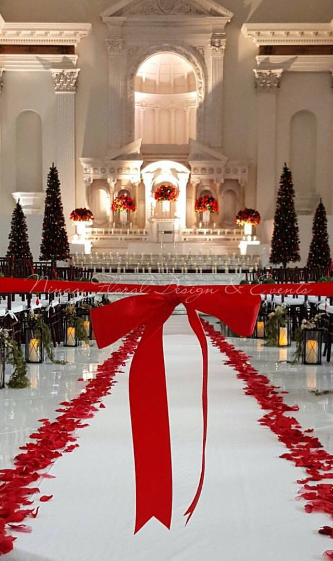 Christmas Themed Wedding At The Vibiana Los Angeles Instagram