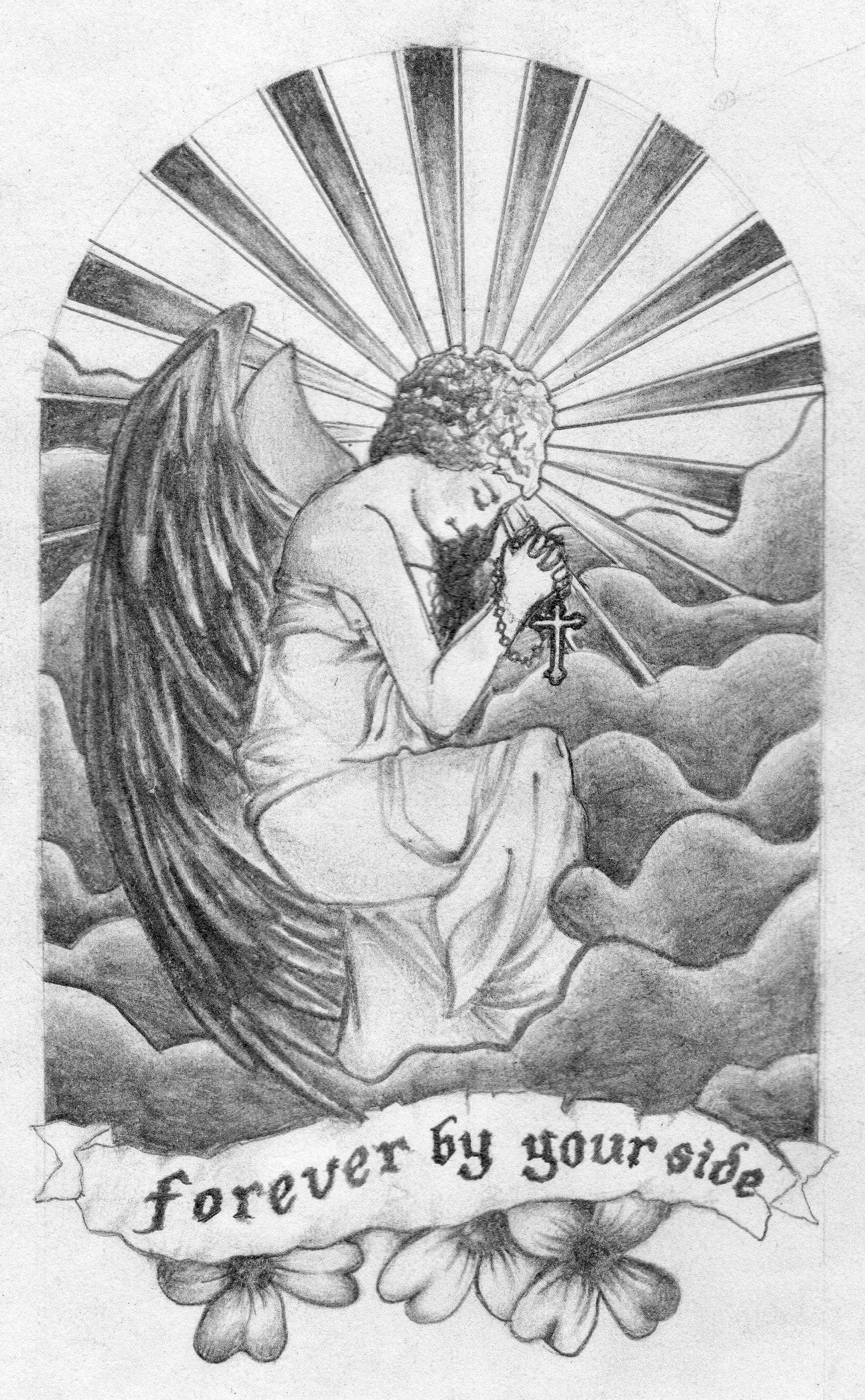 Guardian angel tattoo tattoo pencil angel art drawing