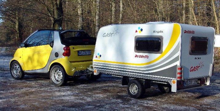 Smart Fortwo And Dethleffs Miniglobe Caravan
