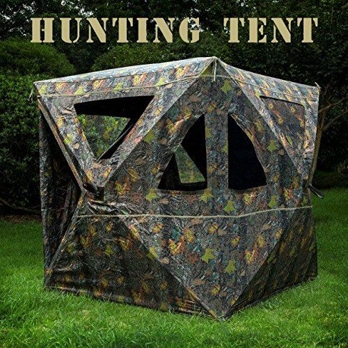 Hunting- 2-3 Person Camouflage Hunting Blind Ground Deer Archery Outhouse Camo Hunting Shooting & Hunting- 2-3 Person Camouflage Hunting Blind Ground Deer Archery ...